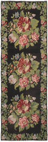Rose Kelim Moldavia Rug 170X530 Authentic Oriental Handwoven Hallway Runner Dark Grey/Dark Green (Wool, Moldova)