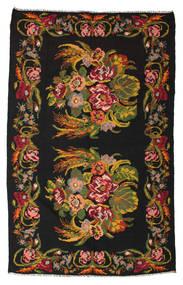 Kilim Rose Moldavia Dywan 184X295 Orientalny Tkany Ręcznie Czarny/Ciemnoczerwony (Wełna, Mołdawia)