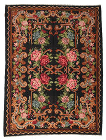 Rose Kelim Moldavia Rug 197X257 Authentic  Oriental Handwoven Dark Brown (Wool, Moldova)