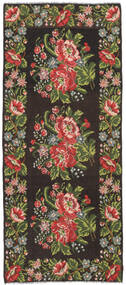 Rose Kelim Moldavia Tæppe 165X287 Ægte Orientalsk Håndvævet Mørkebrun/Mørkegrøn (Uld, Moldova)