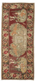 Rose Kelim Moldavia Rug 163X373 Authentic  Oriental Handwoven Hallway Runner  Light Brown/Dark Brown (Wool, Moldova)