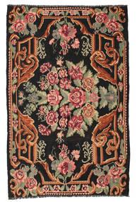 Rose Kelim Moldavia Rug 185X285 Authentic  Oriental Handwoven Black/Olive Green (Wool, Moldova)