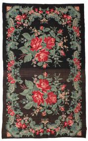 Rose Kelim Moldavia Rug 192X307 Authentic  Oriental Handwoven Dark Brown/Dark Grey (Wool, Moldova)