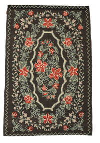 Rose Kelim Moldavia Rug 159X240 Authentic  Oriental Handwoven Dark Grey/Light Grey (Wool, Moldova)