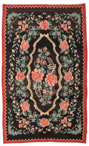 Rose Kelim Moldavia Rug 166X268 Authentic  Oriental Handwoven Black/Dark Grey (Wool, Moldova)