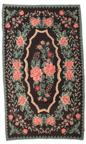 Rose Kelim Moldavia Rug 158X266 Authentic  Oriental Handwoven Dark Brown/Dark Grey (Wool, Moldova)