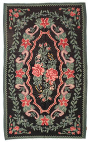 Rozenkelim Moldavia Vloerkleed 154X246 Echt Oosters Handgeweven Zwart/Donkergrijs (Wol, Moldavië)