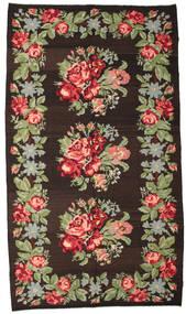 Rose Kelim Moldavia Tæppe 194X340 Ægte Orientalsk Håndvævet Mørkerød/Lysgrøn (Uld, Moldova)