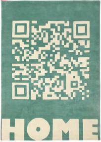 QRCode_Home Handtufted - ターコイズ / グリーン 絨毯 CVD13707