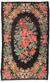 Rose Kelim Moldavia Rug 168X275 Authentic  Oriental Handwoven Dark Brown/Dark Grey (Wool, Moldova)