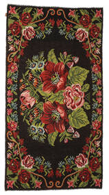 Rose Kelim Moldavia Rug 176X329 Authentic  Oriental Handwoven Dark Brown/Rust Red (Wool, Moldova)