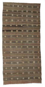 Kilim Semi Antique Turkish Rug 172X357 Authentic  Oriental Handwoven Brown/Light Brown (Wool, Turkey)