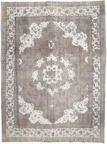 Colored Vintage Tapis 287X387 Moderne Fait Main Gris Clair Grand (Laine, Perse/Iran)