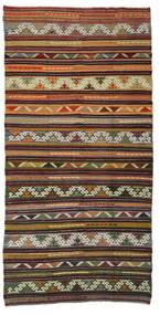 Kilim Semi Antique Turkish Rug 180X353 Authentic  Oriental Handwoven Brown/Dark Brown (Wool, Turkey)