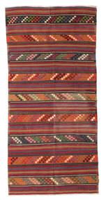 Kilim semi antique Turkish carpet XCGZF988