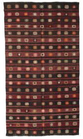Kilim Semi-Antigo Turquia Tapete 193X340 Oriental Tecidos À Mão Castanho Escuro/Castanho (Lã, Turquia)