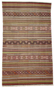 Kilim Semi Antique Turkish Rug 167X287 Authentic  Oriental Handwoven Brown/Light Brown (Wool, Turkey)