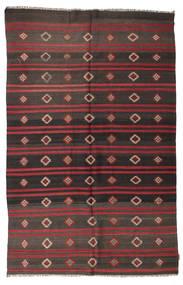 Kelim Semiantiikki Turkki Matto 195X300 Itämainen Käsinkudottu Tummanharmaa/Tummanruskea (Villa, Turkki)