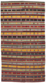 Kilim Semi Antique Turkish Rug 167X316 Authentic  Oriental Handwoven Brown/Dark Blue (Wool, Turkey)