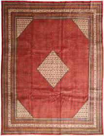Mahal Rug 293X390 Authentic  Oriental Handknotted Dark Red/Rust Red Large (Wool, Persia/Iran)