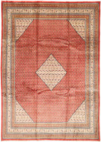 Sarough Mir Alfombra 250X350 Oriental Hecha A Mano Óxido/Roja/Marrón Oscuro Grande (Lana, Persia/Irán)