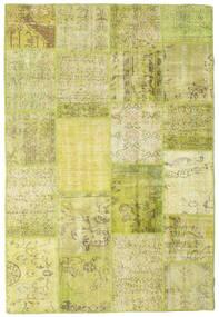 Patchwork Teppich  156X231 Echter Moderner Handgeknüpfter Gelb/Olivgrün (Wolle, Türkei)