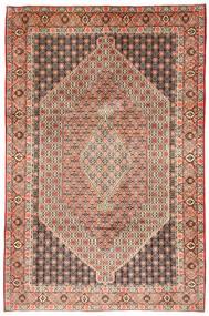 Senneh Tæppe 211X323 Ægte Orientalsk Håndknyttet Lysebrun/Lyserød (Uld, Persien/Iran)