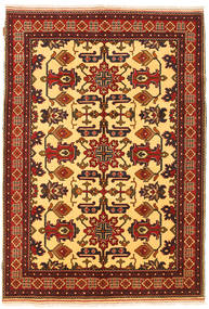 Kazak Vloerkleed 157X222 Echt Oosters Handgeknoopt Roestkleur/Donkerbruin (Wol, Pakistan)