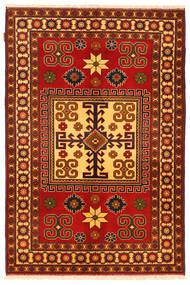 Kazak Matto 125X188 Itämainen Käsinsolmittu Ruoste/Tummanruskea (Villa, Pakistan)