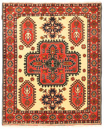 Kazak Rug 150X184 Authentic  Oriental Handknotted Crimson Red/Dark Brown (Wool, Pakistan)