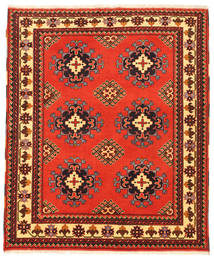 Kazak Rug 156X189 Authentic  Oriental Handknotted Orange/Dark Red (Wool, Pakistan)