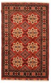 Kazak Matta 115X192 Äkta Orientalisk Handknuten Mörkbrun/Roströd (Ull, Pakistan)