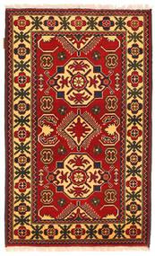 Kazak Matto 85X137 Itämainen Käsinsolmittu Tummanruskea/Ruoste (Villa, Pakistan)