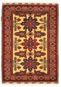 Kazak Rug 87X123 Authentic Oriental Handknotted Rust Red/Dark Brown (Wool, Pakistan)