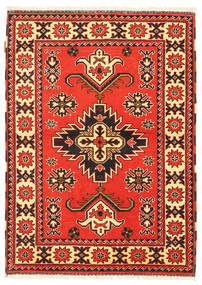 Kazak Vloerkleed 105X149 Echt Oosters Handgeknoopt Oranje/Donkerbruin (Wol, Pakistan)