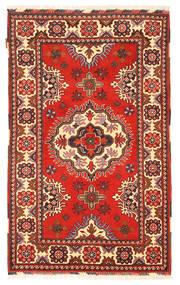 Kazak Matto 101X166 Itämainen Käsinsolmittu Tummanpunainen/Beige (Villa, Pakistan)