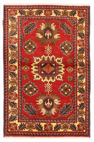 Kazak Matta 102X161 Äkta Orientalisk Handknuten Roströd/Mörkröd (Ull, Pakistan)