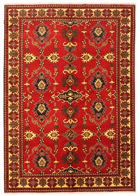 Kazak Rug 198X288 Authentic  Oriental Handknotted Rust Red/Dark Brown (Wool, Pakistan)