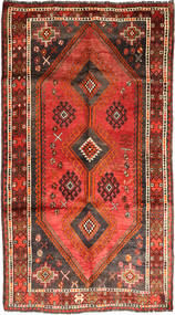 Qashqai Rug 155X278 Authentic  Oriental Handknotted Rust Red/Dark Brown (Wool, Persia/Iran)