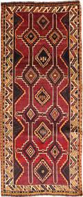 Ghashghai Teppich 127X300 Echter Orientalischer Handgeknüpfter Läufer Dunkelrot/Schwartz (Wolle, Persien/Iran)