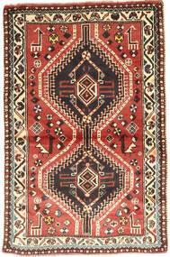 Ghashghaï Tapis 97X150 D'orient Fait Main Marron Foncé/Rouge Foncé (Laine, Perse/Iran)