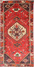 Qashqai Rug 145X290 Authentic  Oriental Handknotted Orange/Rust Red (Wool, Persia/Iran)