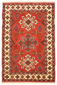 Kazak Matta 105X158 Äkta Orientalisk Handknuten Orange/Roströd (Ull, Pakistan)