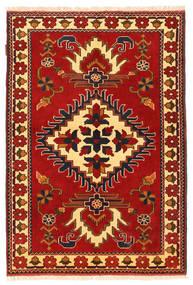 Kazak Matta 106X158 Äkta Orientalisk Handknuten Roströd/Mörkbrun (Ull, Pakistan)
