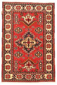 Kazak Matto 97X149 Itämainen Käsinsolmittu Tummanpunainen/Beige (Villa, Pakistan)