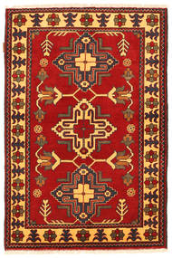 Kazak Rug 100X152 Authentic  Oriental Handknotted Rust Red/Dark Brown (Wool, Pakistan)