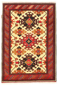 Kazak Rug 100X150 Authentic  Oriental Handknotted Dark Red/Orange (Wool, Pakistan)