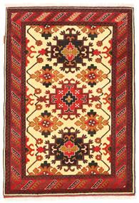 Kazak Matta 100X150 Äkta Orientalisk Handknuten Mörkröd/Orange (Ull, Pakistan)