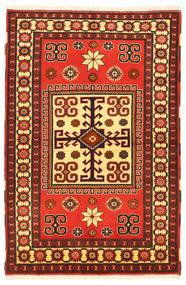 Kazak Matto 103X160 Itämainen Käsinsolmittu Tummanruskea/Oranssi (Villa, Pakistan)