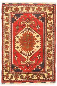 Kazak Teppich 102X150 Echter Orientalischer Handgeknüpfter Rost/Rot/Orange (Wolle, Pakistan)